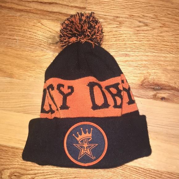 ee9932f45 reduced obey knit hat orange 57722 86d57